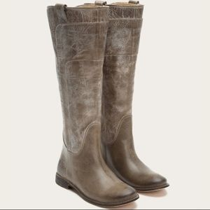 Frye Paige Tall Riding Boots- Gray